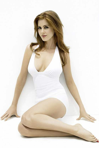 Isla Fisher - White Dress iPhone Wallpaper