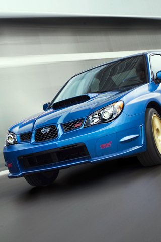 Subaru STI iPhone Wallpaper