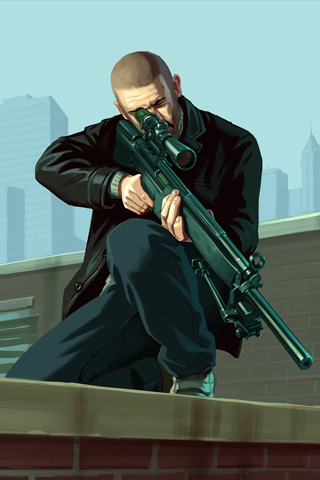 Grand Theft Auto 4 iPhone Wallpaper