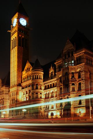 Parliament at Downtown Toronto iPhone Wallpaper