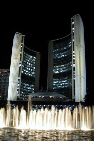 City Hall - Downtown Toronto iPhone Wallpaper