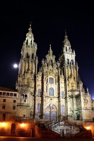 Santiago Compostela at Night iPhone Wallpaper