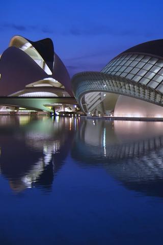 Ciudad de las Artes y las Ciencias iPhone Wallpaper