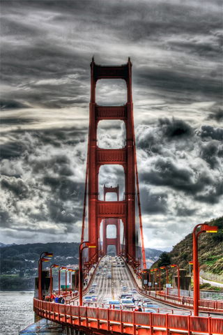 HDRI Golden Gate iPhone Wallpaper