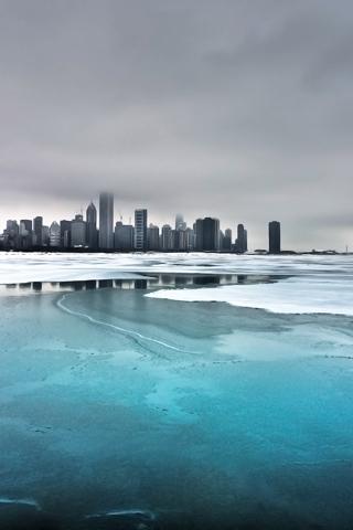 Gloomy City iPhone Wallpaper