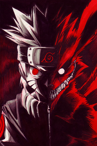 Naruto Nine Tails Fox iPhone Wallpaper | iDesign iPhone