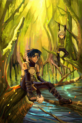 Sasuki & Naruto iPhone Wallpaper