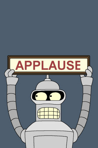 Futurama - Bender Applause iPhone Wallpaper