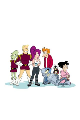 Futurama Cast iPhone Wallpaper