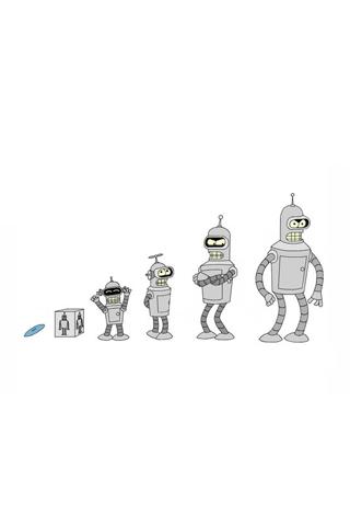 Futurama - Bender Evolution iPhone Wallpaper