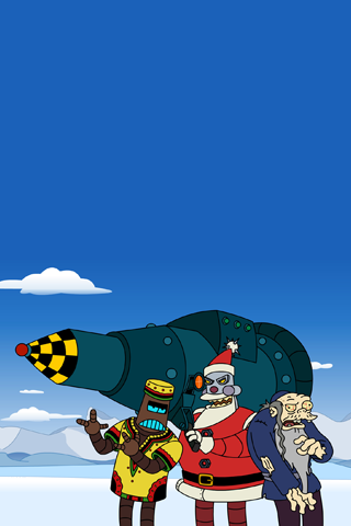 Futurama - Evil Santa iPhone Wallpaper