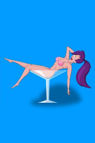 Futurama - Leela iPhone Wallpaper