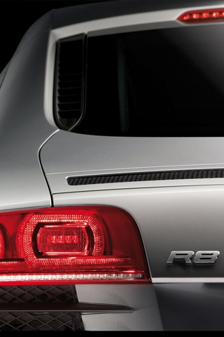 Audi R8 Rear Closeup iPhone Wallpaper