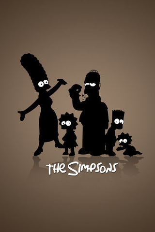 The Simpsons Silhouettes iPhone Wallpaper