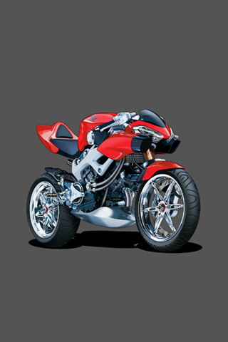 Honda Motorcycle Vector IPhone Wallpaper