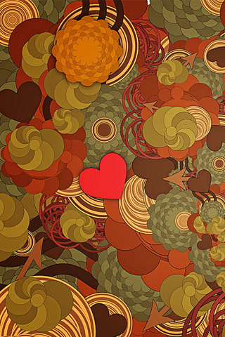 Abstract Flower Pattern iPhone Wallpaper