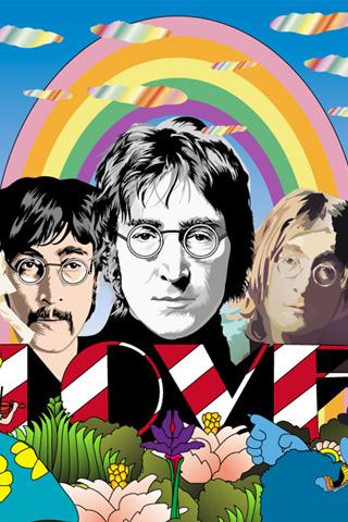 The Beatles - John Lennon Vector iPhone Wallpaper