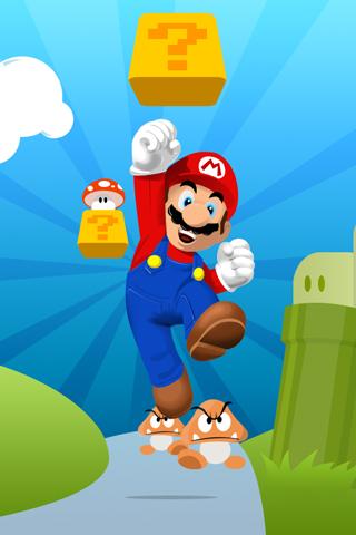 Super Mario Bros. Jumping iPhone Wallpaper