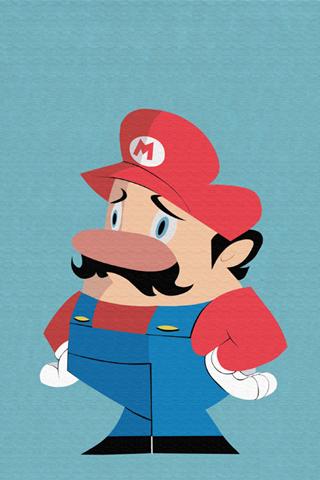 Super Mario Bros. Abstract iPhone Wallpaper