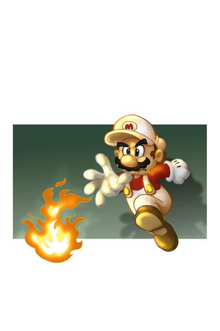 Super Mario Bros. Fireball iPhone Wallpaper