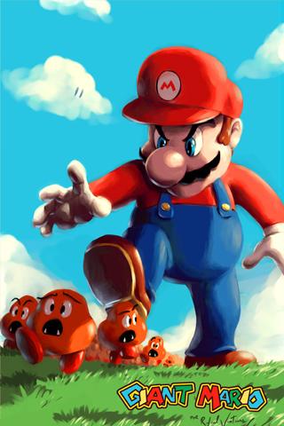 Evil Giant Mario iPhone Wallpaper