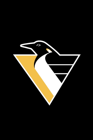 Pittsburgh Penguins Logo Black iPhone Wallpaper
