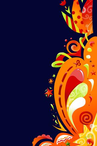 Abstract Flower Swirls iPhone Wallpaper