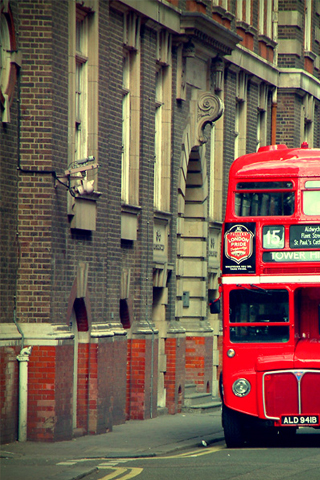 Red Double Decker Bus iPhone Wallpaper