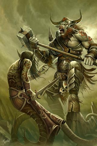 Minotaur Battle iPhone Wallpaper