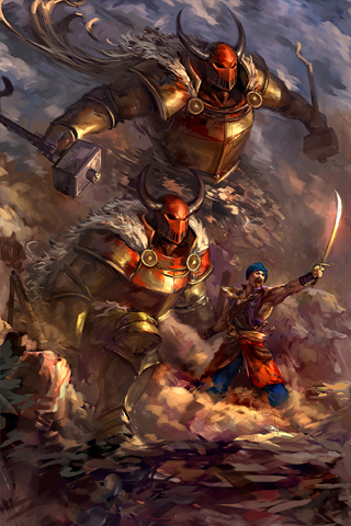 Battle Painting iPhone Wallpaper