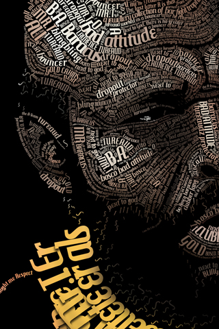 Mister T Words iPhone Wallpaper