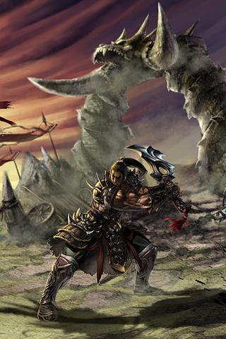 Barbarian War iPhone Wallpaper