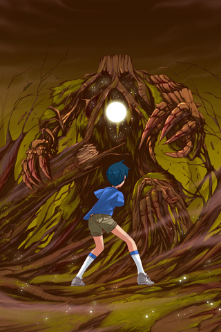 Tree Monster iPhone Wallpaper