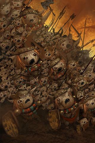 Ugly Battle iPhone Wallpaper
